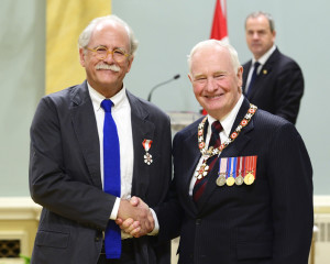 Robert Mellin Receiving the Order Of Canada